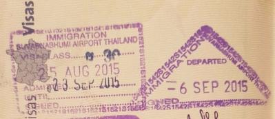 Mon visa pour la Thaïlande