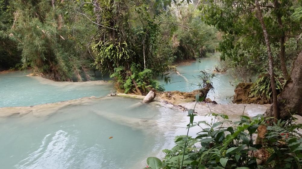 Kuang Si waterfall à Luang Prabang au Laos