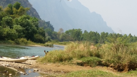 Rivière à Vang Vieng