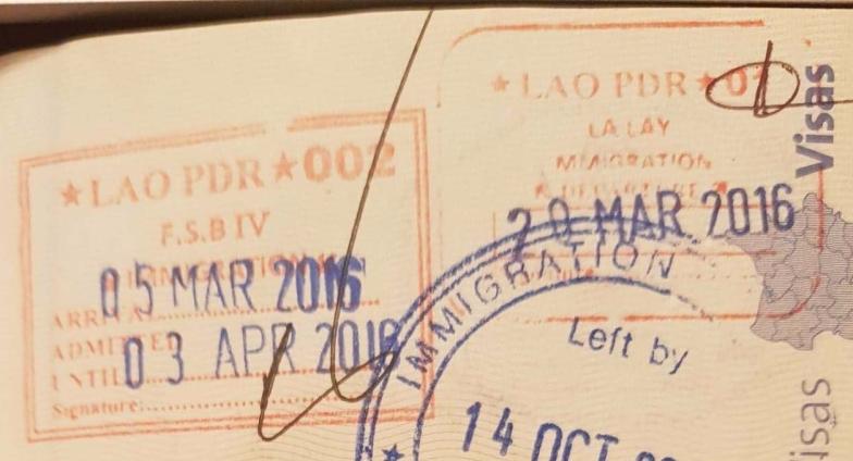 Visa d'entrée et sortie au Laos