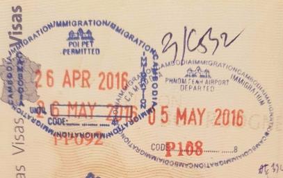 Visa pour le Cambodge