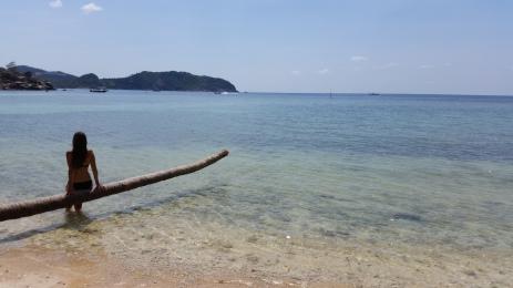 Sur l'île de Koh Phangan en Thaïlande