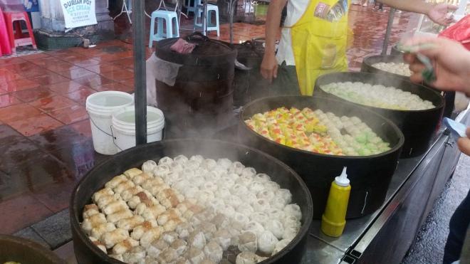 Boulettes aux différentes saveurs à Malacca en Malaisie