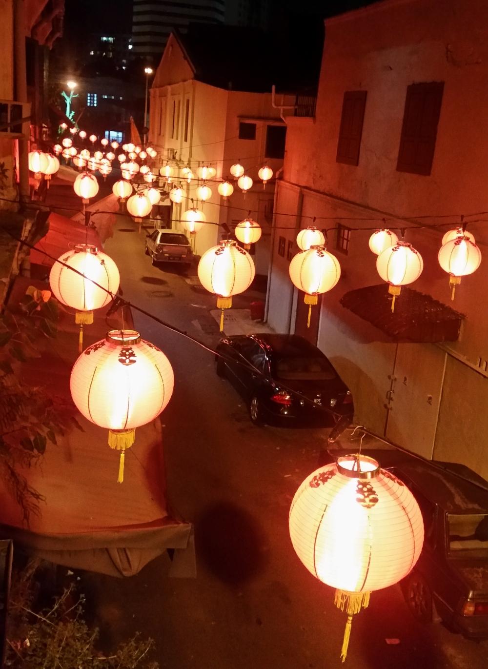 Quartier de Chinatown, vue de notre chambre d'hôtel