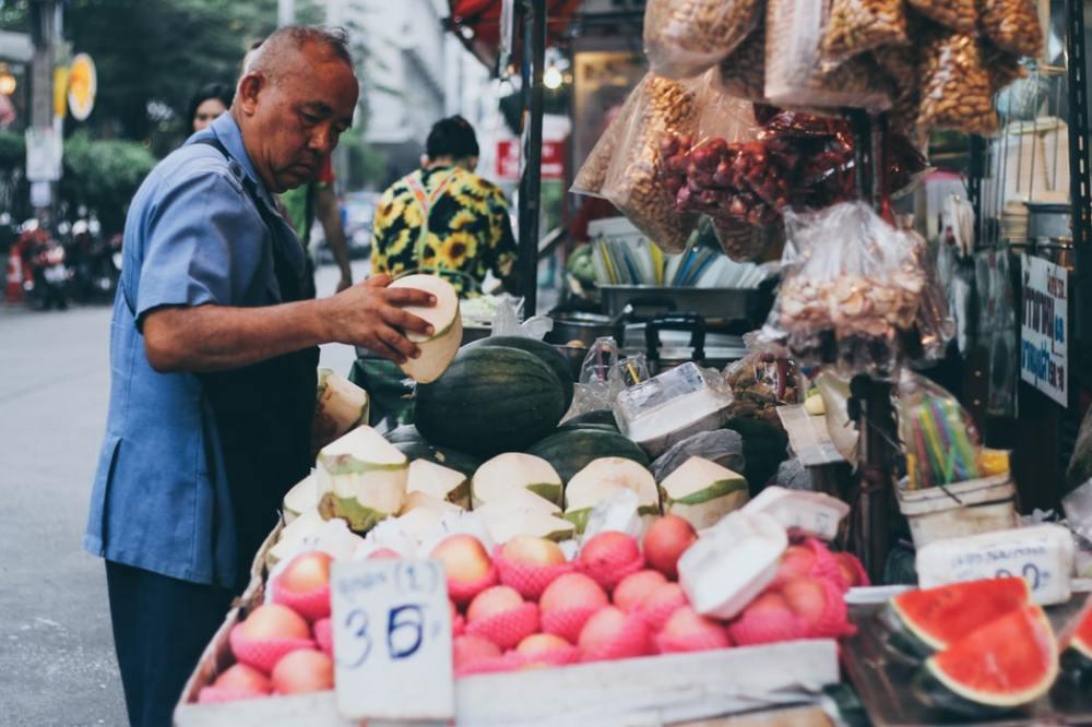 marché fruits de saison